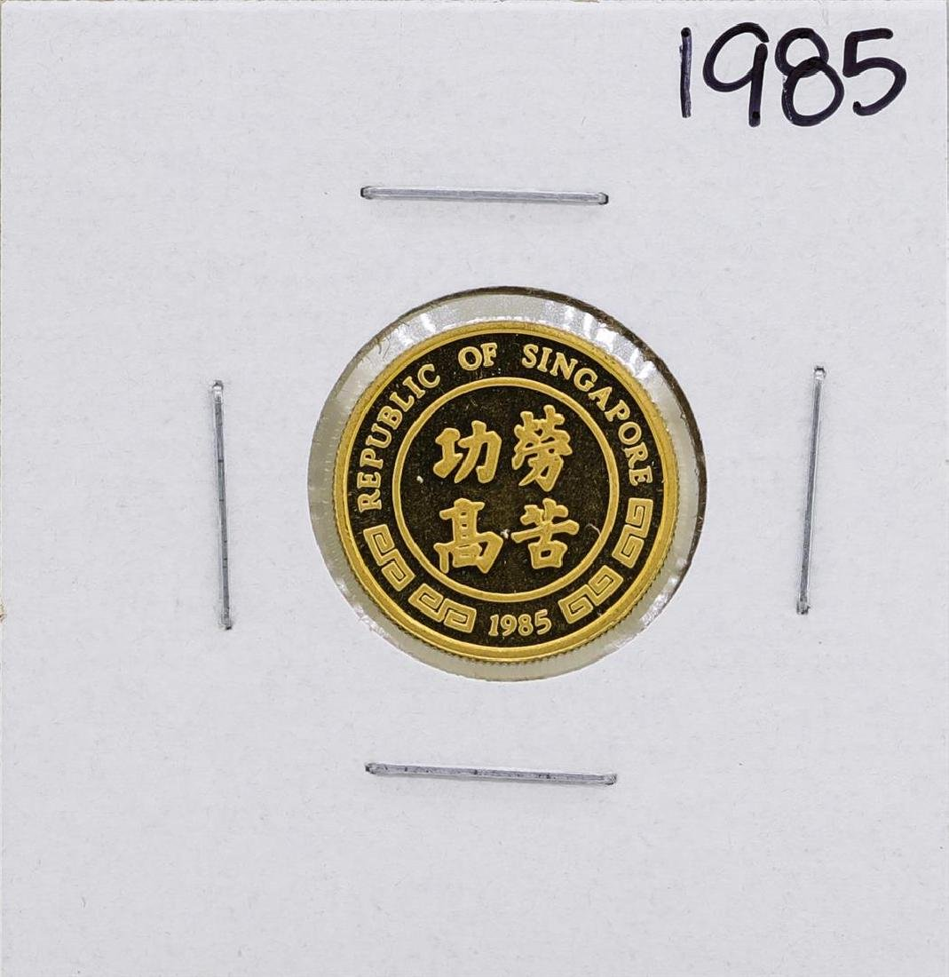 1985 Singapore 1/10 Oz. Gold Coin Year of the Ox - 2