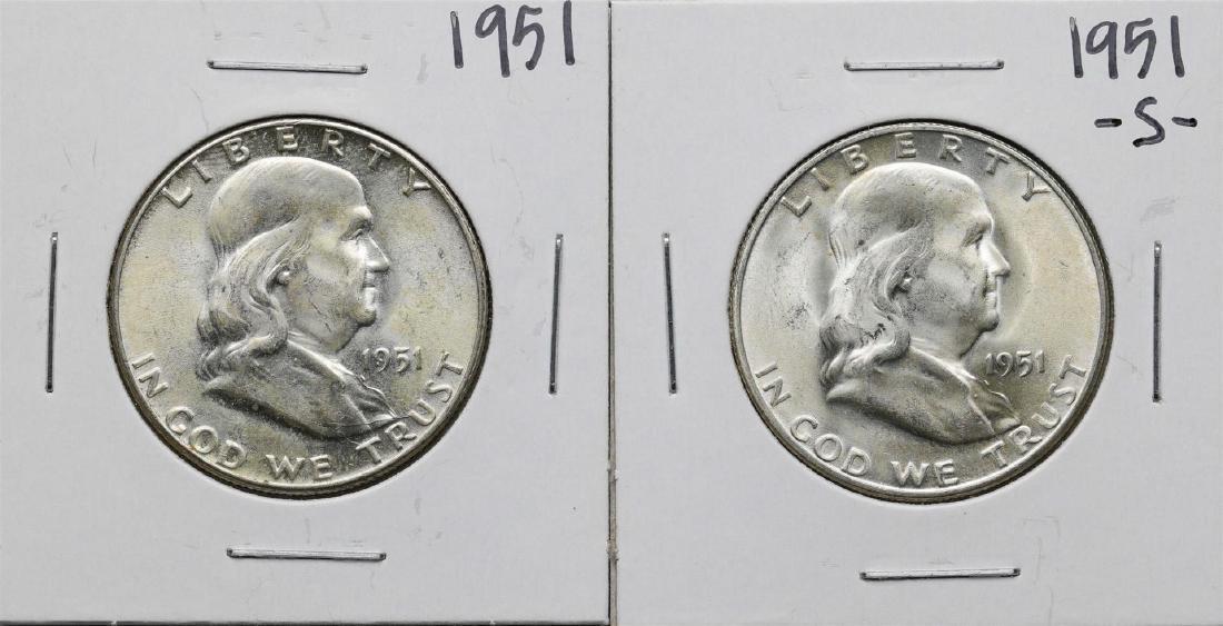 1951 & 1951-S Franklin Half Dollar Coin