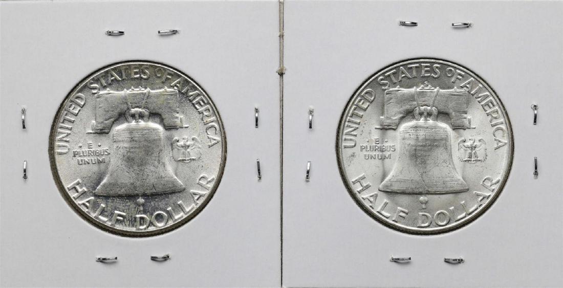 1951 & 1951-S Franklin Half Dollar Coin - 2