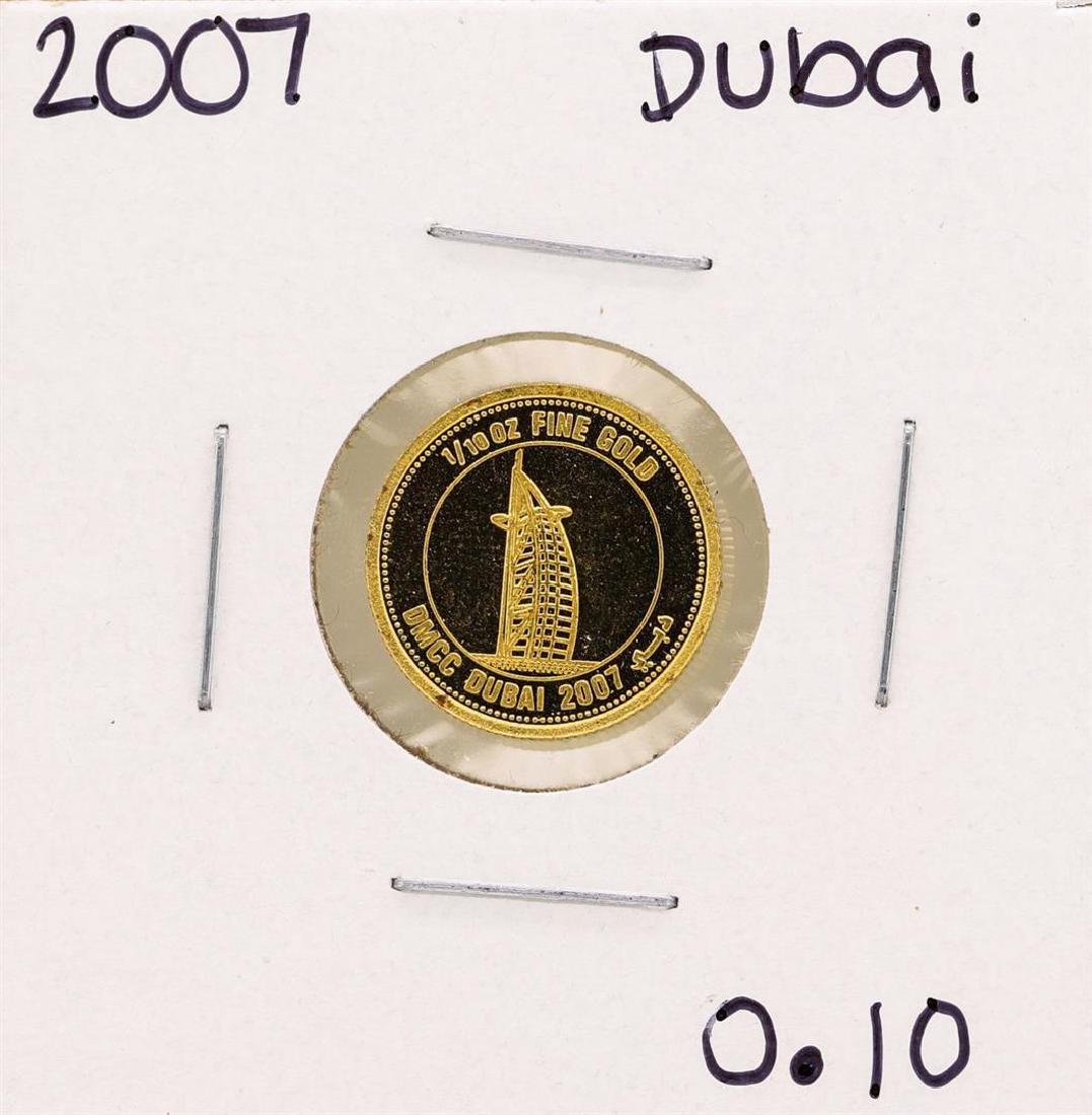 2007 United Arab Emirates Visons of Dubai 1/10 oz Gold