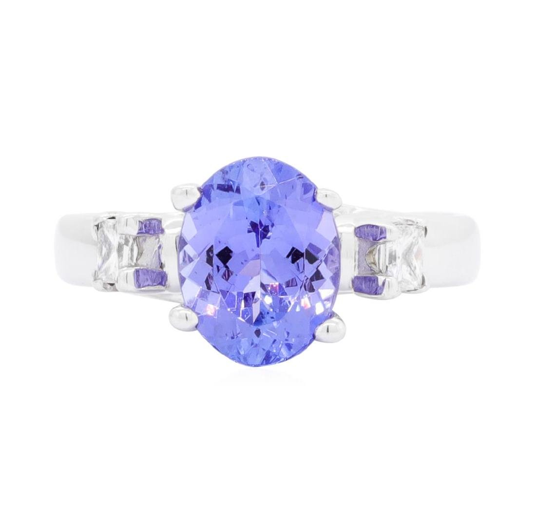 14KT White Gold 1.90 ctw Tanzanite and Diamond Ring