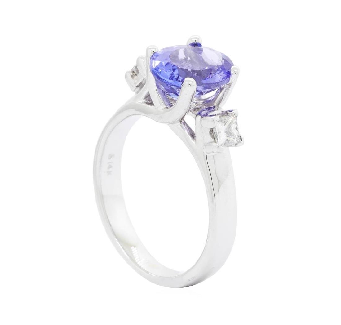 14KT White Gold 1.90 ctw Tanzanite and Diamond Ring - 3