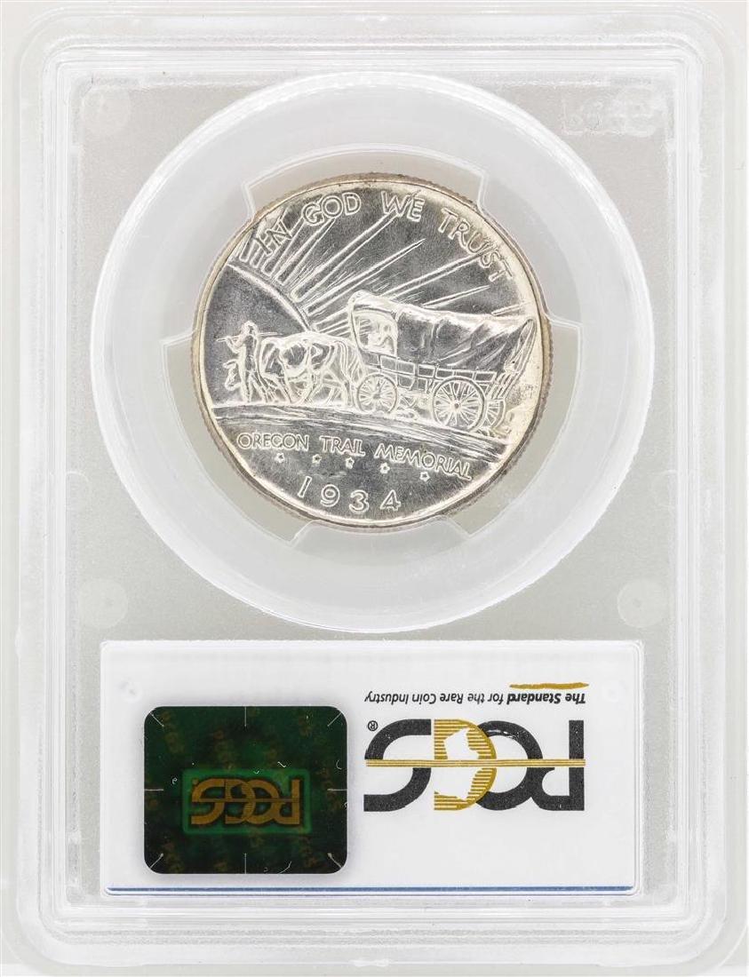 1934-D Oregon Commemorative Half Dollar Coin PCGS MS66 - 2