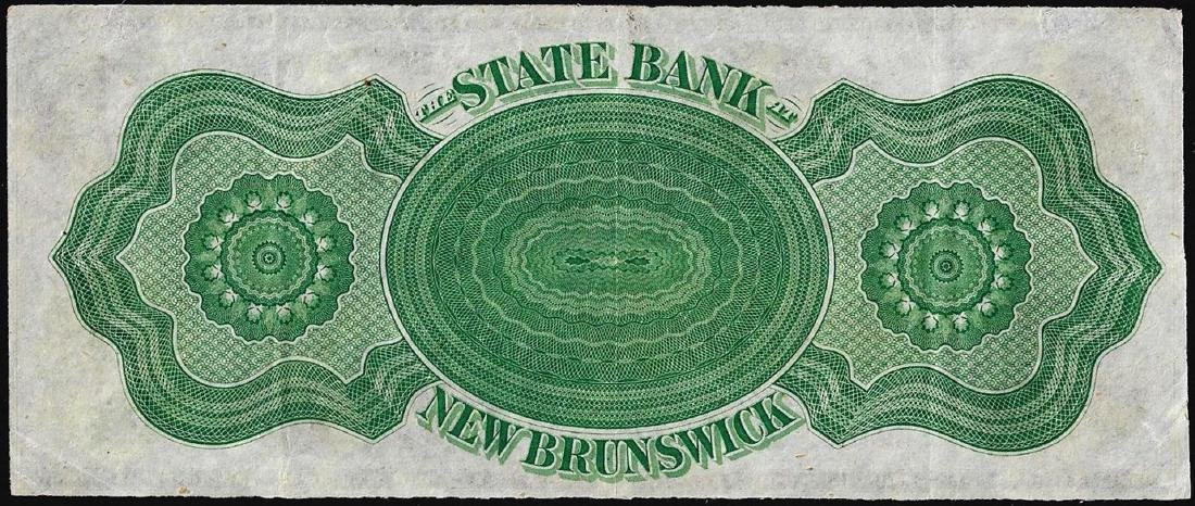 1800's $1 State of New Brunswick Obsolete Bank Note - 2