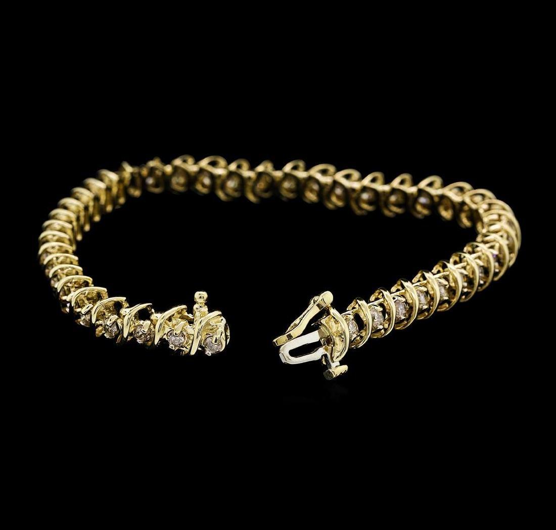 14KT Yellow Gold 3.00 ctw Diamond Bracelet - 4