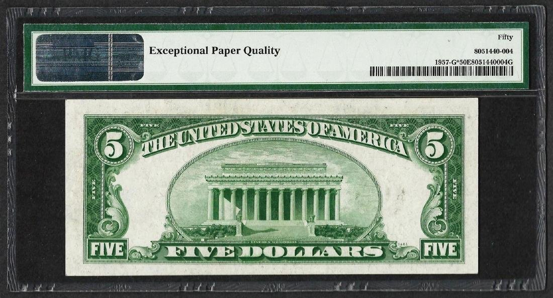 1934A $5 Federal Reserve STAR Note Chicago Fr.1957-G* - 2