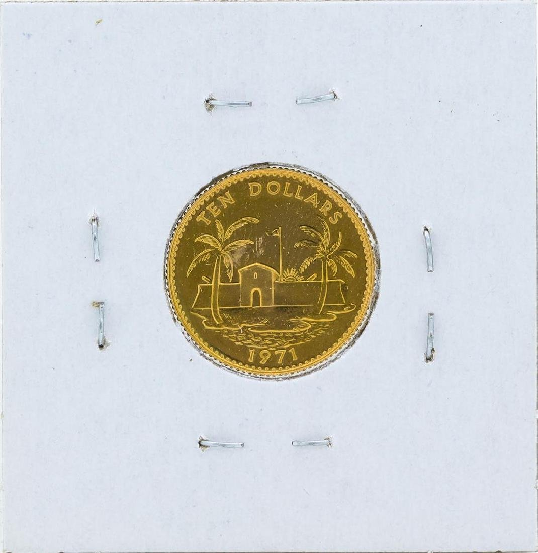 1971 $10 Commonwealth of the Bahamas Gold Proof Coin - 2