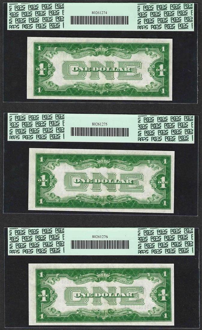 (3) Consecutive 1928A $1 Funnyback Silver Certificate - 2