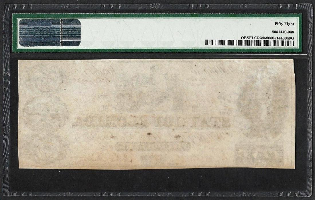 1864 $5 State of Florida Obsolete Note PMG Choice About - 2