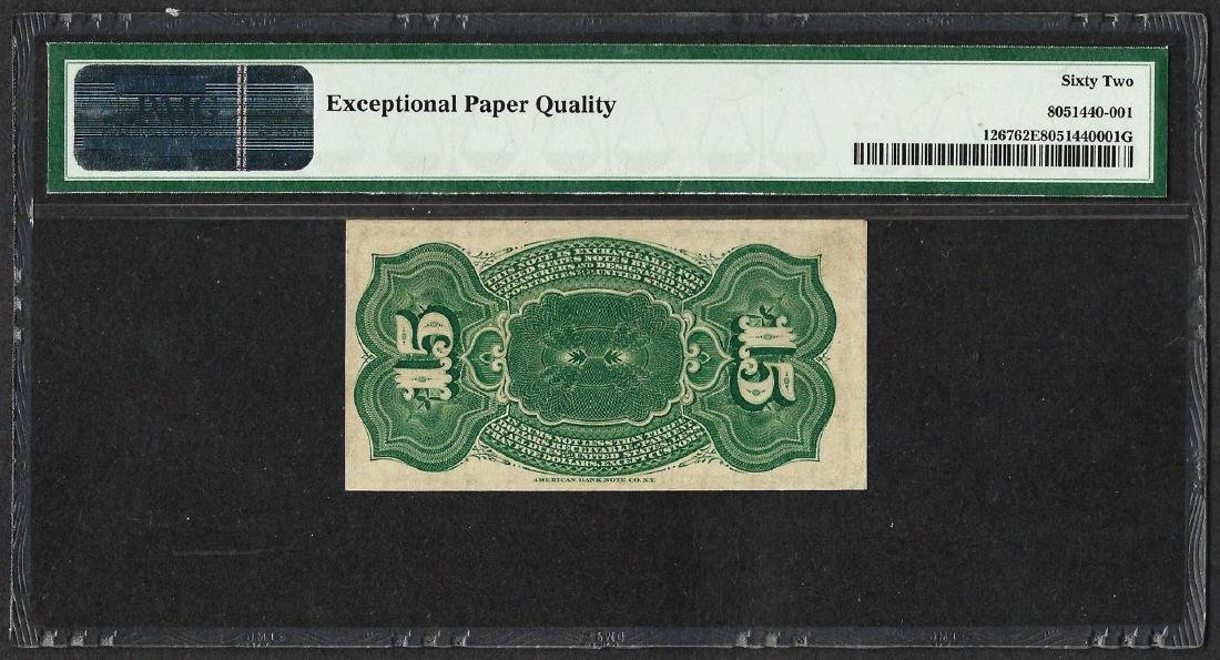 1863 Fifteen Cents Fourth Issue Fractional Note PMG - 2