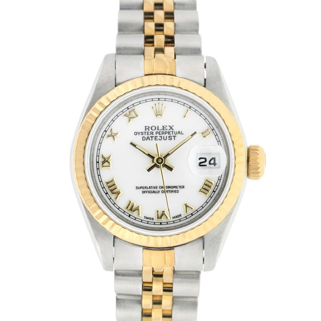 Rolex Ladies Two Tone 14K White Roman 26MM Datejust - 2
