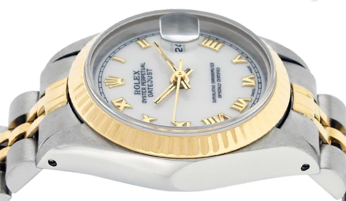 Rolex Ladies Two Tone 14K White Roman 26MM Datejust - 5