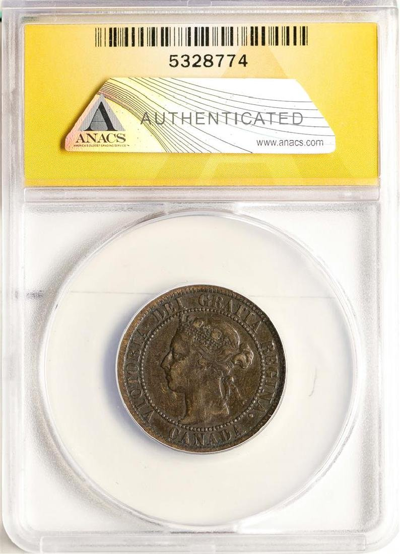 1901 Canada Large Cent Coin ANACS VF30 - 2