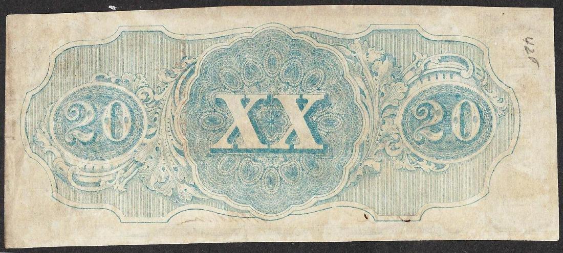 1863 $20 Confederate States of America Note - 2