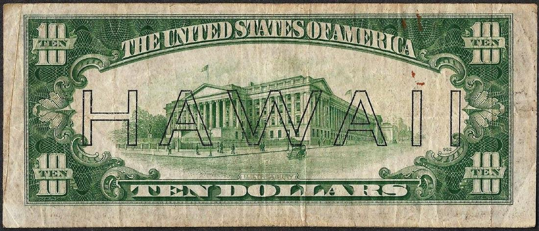 1934A $10 Federal Reserve WWII Emergency Hawaii Note - 2