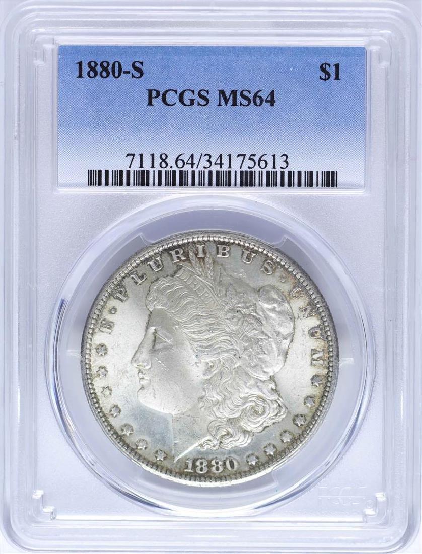 1880-S $1 Morgan Silver Dollar Coin PCGS MS64 Nice