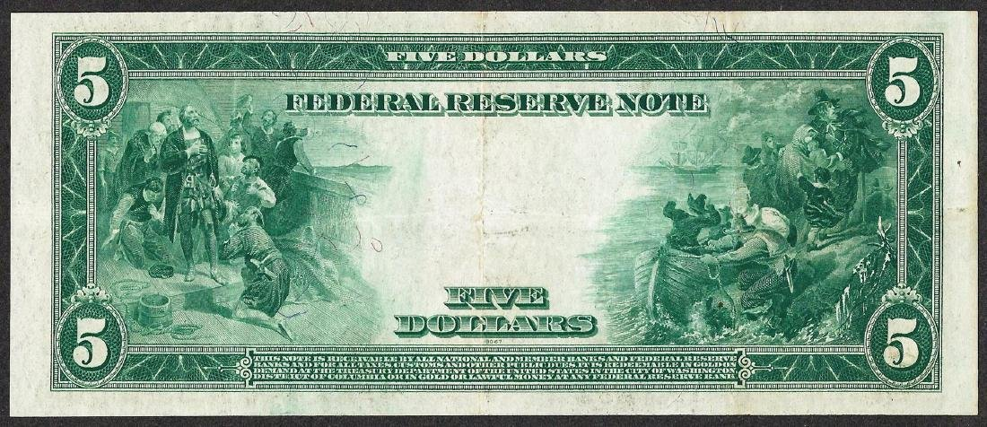 1914 $5 Federal Reserve Note Chicago - 2