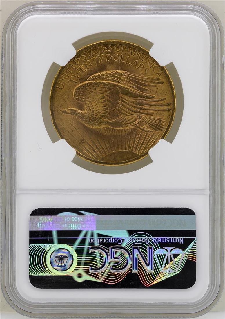 1908 $20 No Motto St. Gaudens Double Eagle Gold Coin - 2