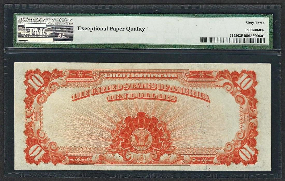 1922 $10 Gold Certificate Note Fr.1173 PMG Choice - 2