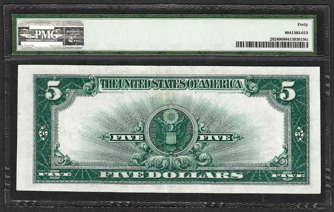 1923 $5 Porthole Silver Certificate Note PMG Extremely - 2