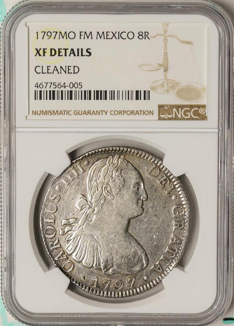 1797MO FM Mexico 8 Reales Silver Coin NGC XF Details