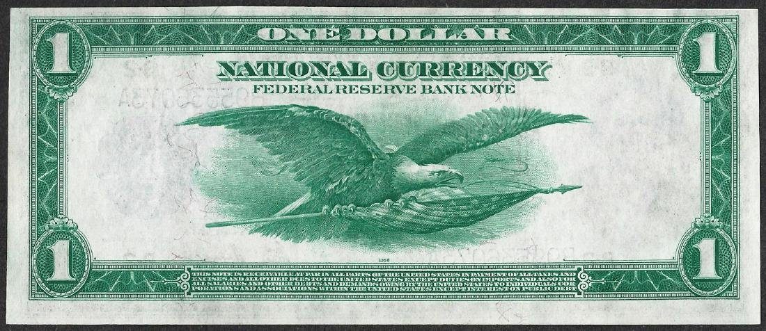 1918 $1 Federal Reserve Bank Note New York - 2