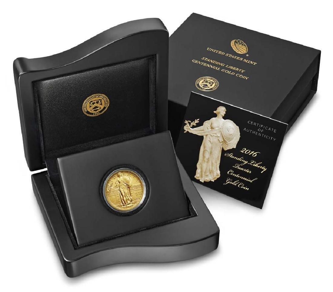 2016-W Standing Liberty Quarter Dollar Gold Centennial