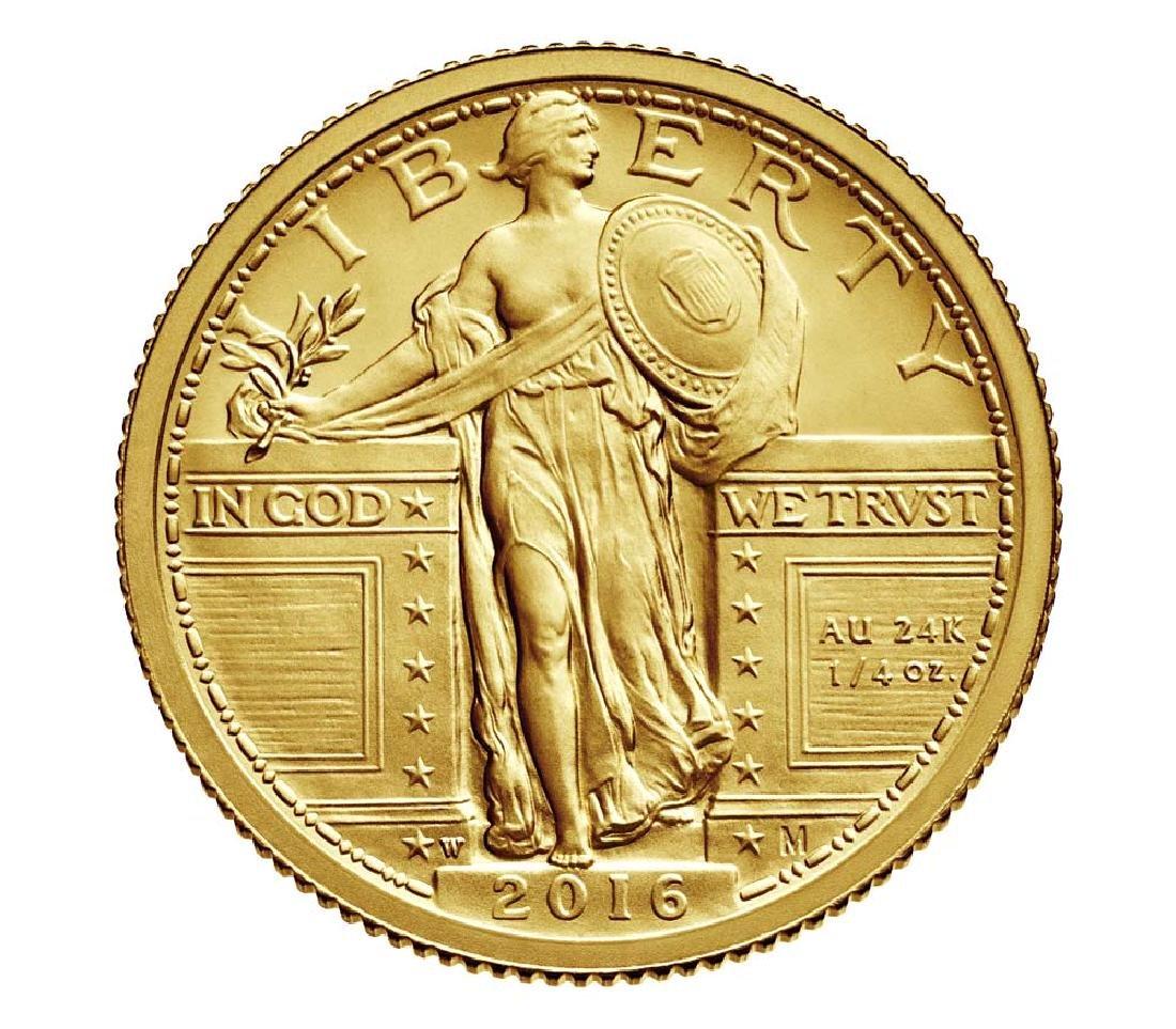 2016-W Standing Liberty Quarter Dollar Gold Centennial - 2