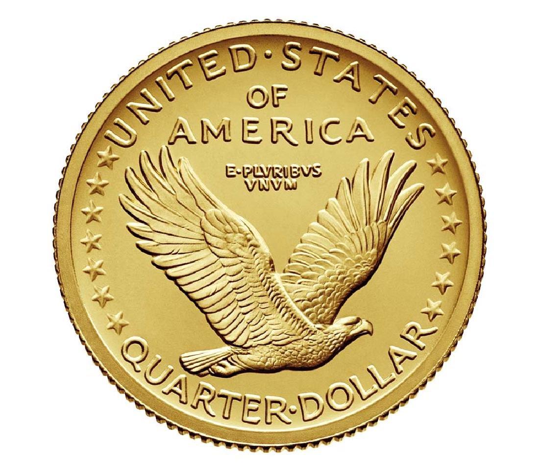2016-W Standing Liberty Quarter Dollar Gold Centennial - 3