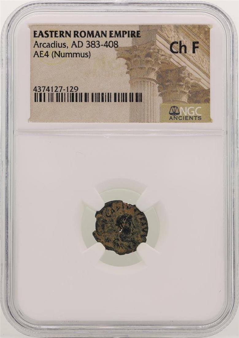 Arcadius 383-408 AD Ancient Eastern Roman Empire NGC Ch