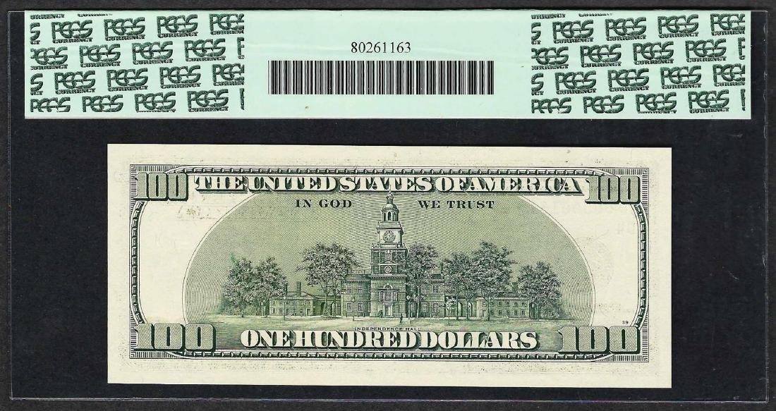 2001 $100 Federal Reserve STAR Note PCGS Superb Gem New - 2