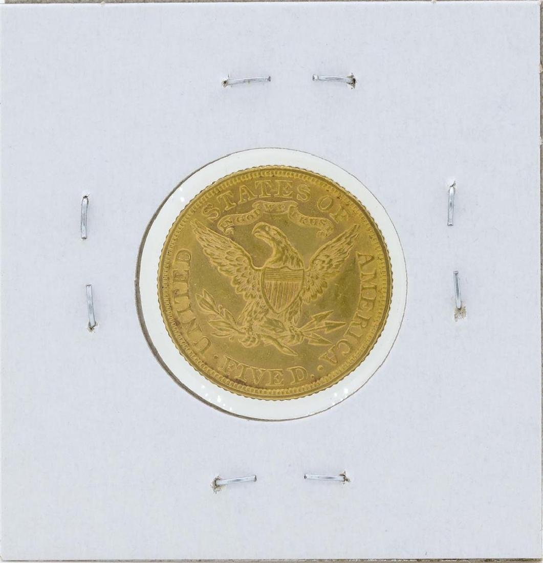 1881 $5 Liberty Head Half Eagle Gold Coin - 2