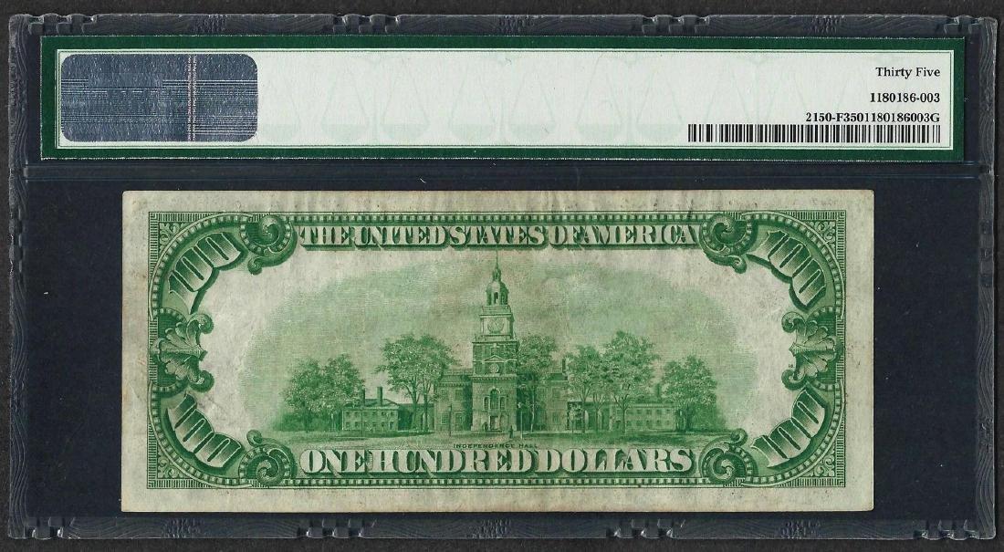 1928 $100 Federal Reserve Note Atlanta Fr.2150-F PMG - 2