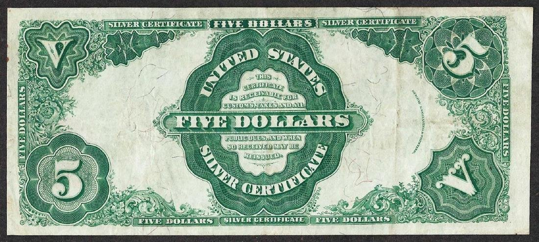 1891 $5 Silver Certificate Note - 2