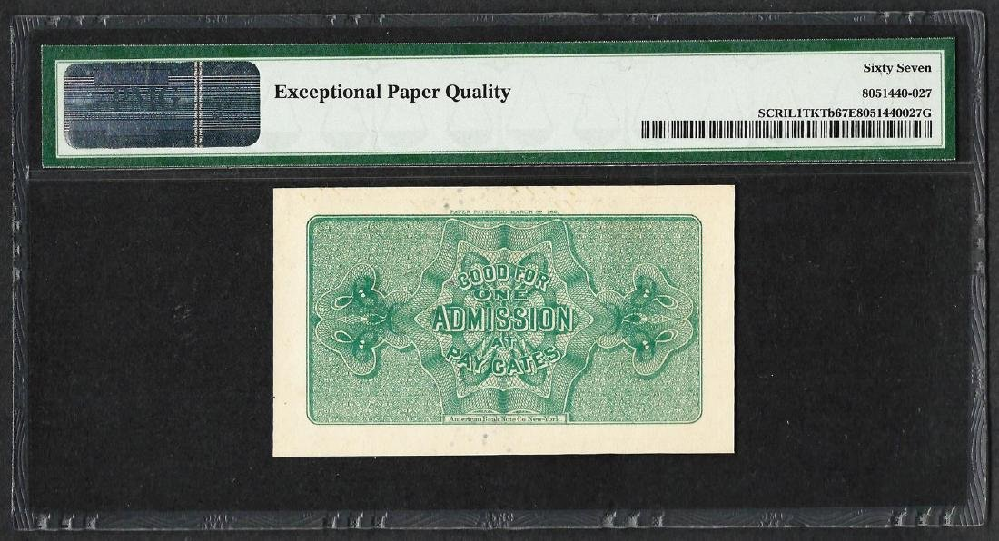 1893 World's Columbian Exposition Ticket Lincoln PMG - 2