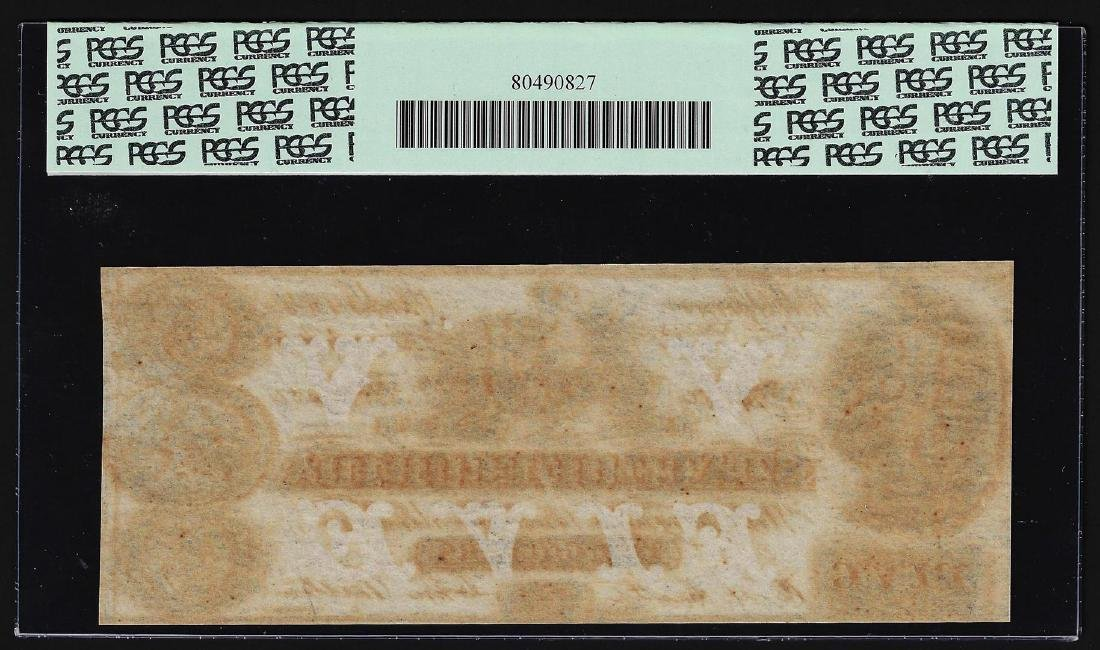 1864 $5 State of Florida Tallahassee Obsolete Bank Note - 2