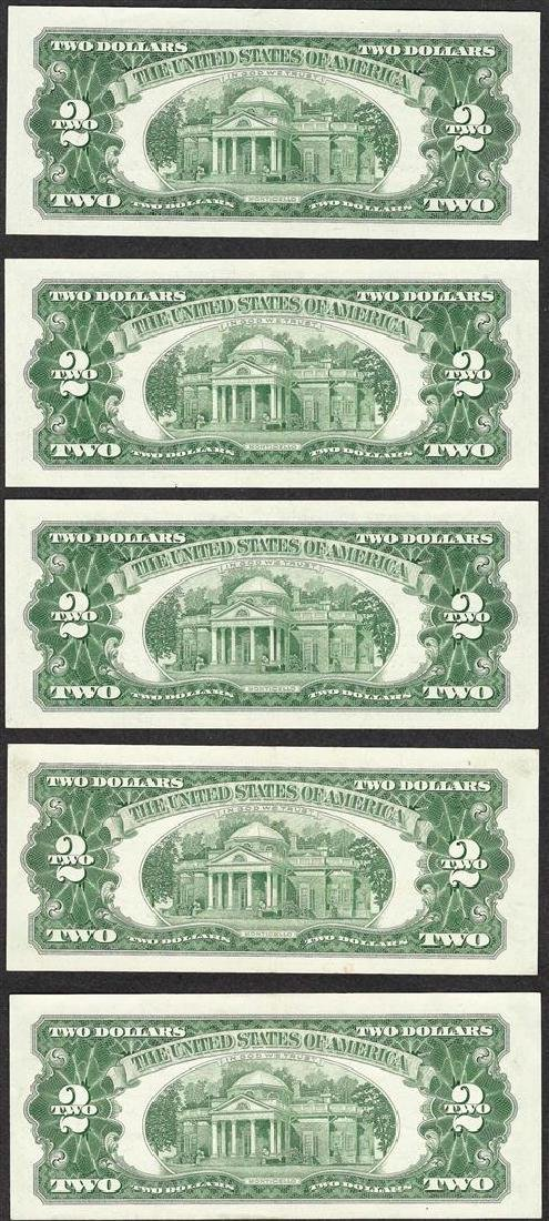 Lot of (5) 1963A $2 Legal Tender Notes - 2