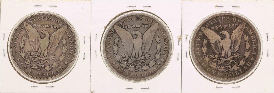 Lot of 1879-S & (2) 1879 $1 Morgan Silver Dollar Coins - 2