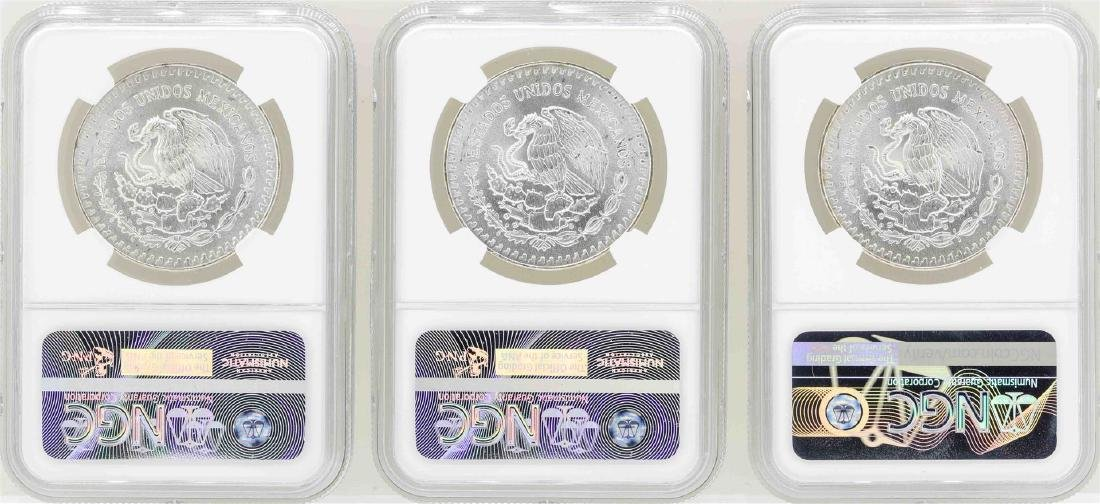 Lot of (3) 1985Mo 1 Onza Silver Libertad Coins NGC MS66 - 2