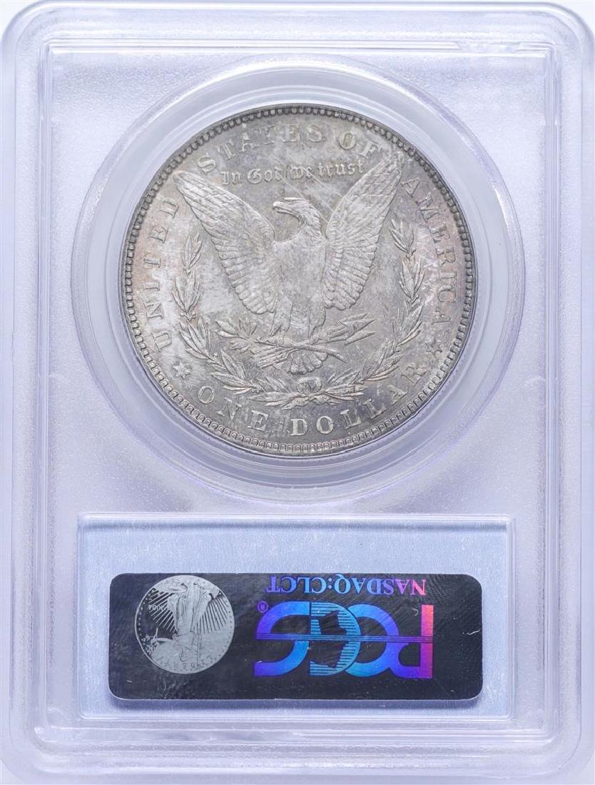 1887 $1 Morgan Silver Dollar Coin PCGS MS64 Nice Toning - 2