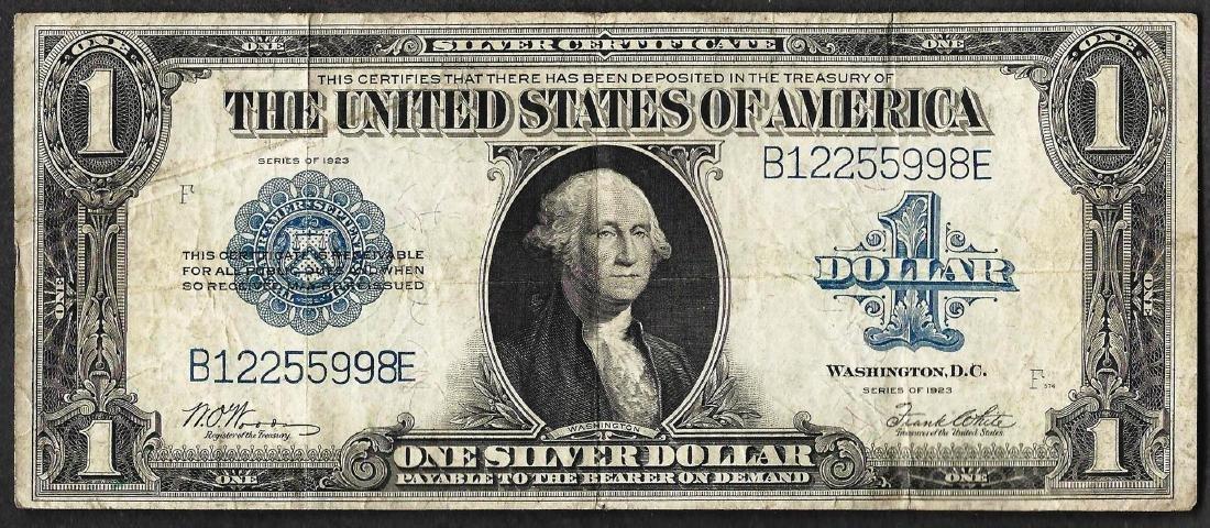 1923 $1 Silver Certificate Note