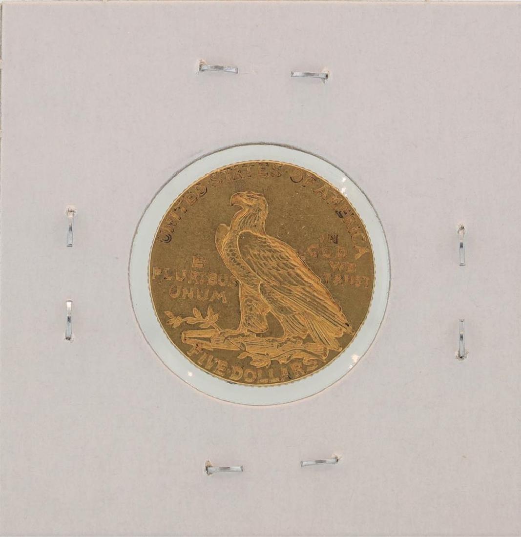 1908 $5 Indian Head Half Eagle Gold Coin - 2