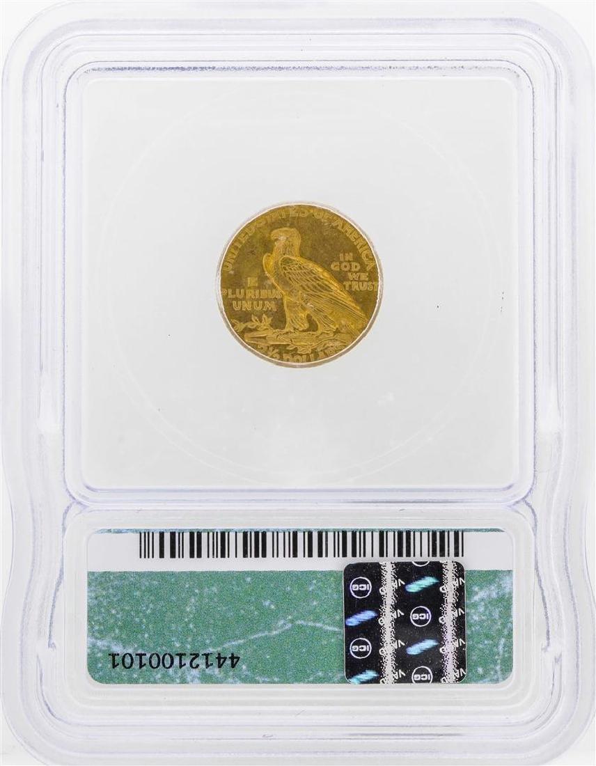 1909 $2 1/2 Indian Head Quarter Eagle Gold Coin ICG - 2