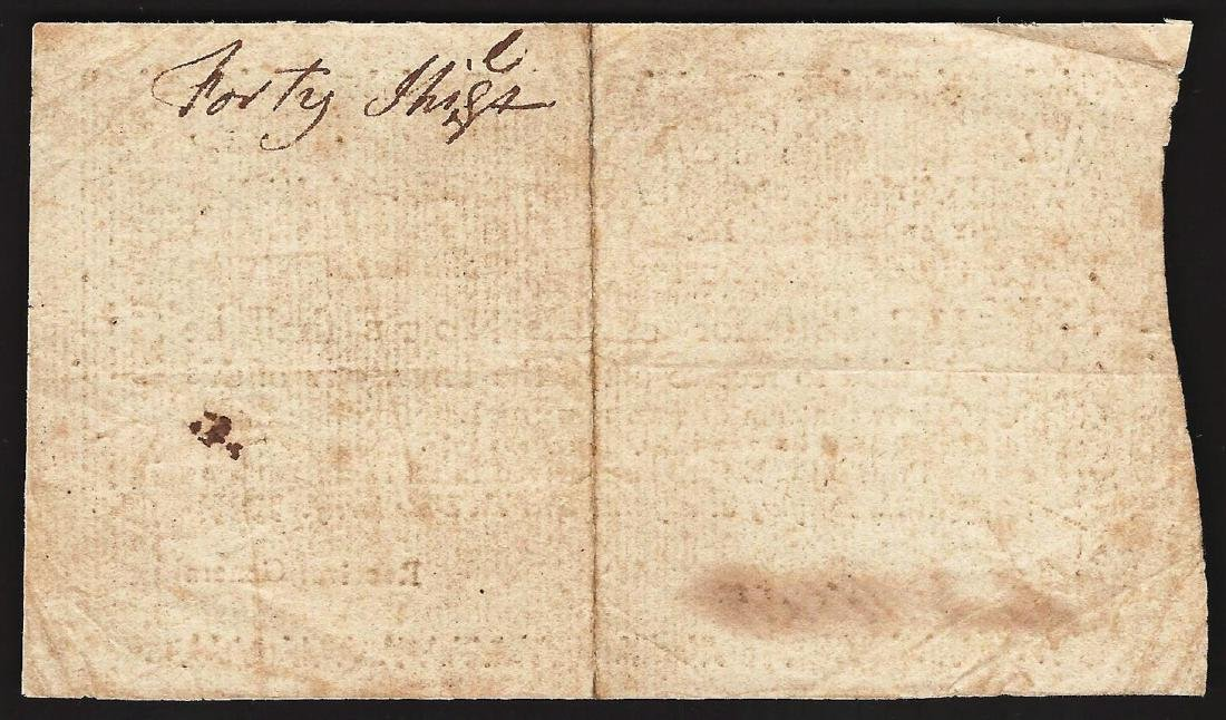 1775 New Hampshire Forty Shillings Colonial Currency - 2