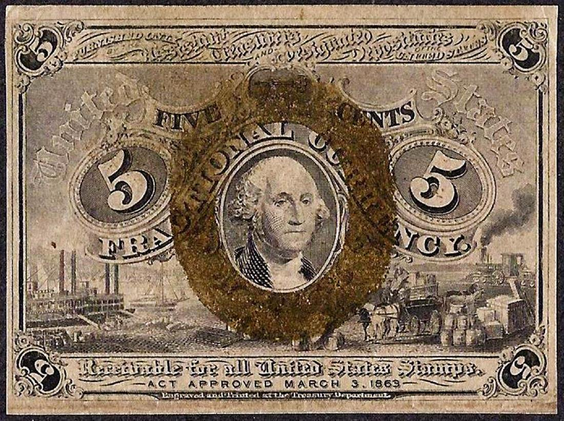 March 3, 1863 Second Issue Five Cent Fractional