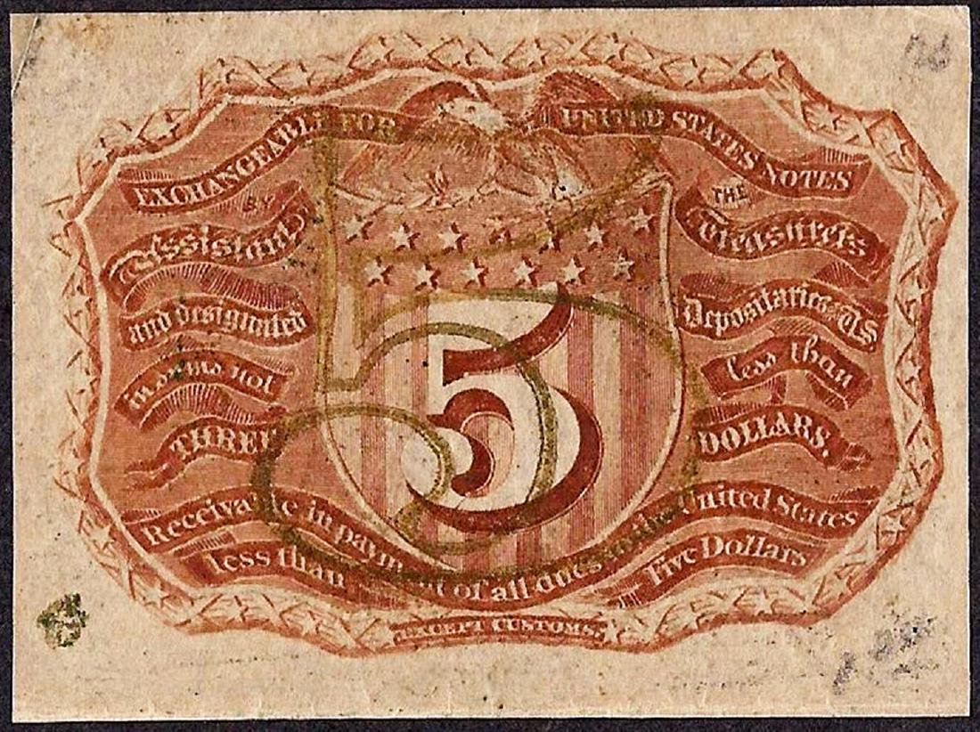 March 3, 1863 Second Issue Five Cent Fractional - 2