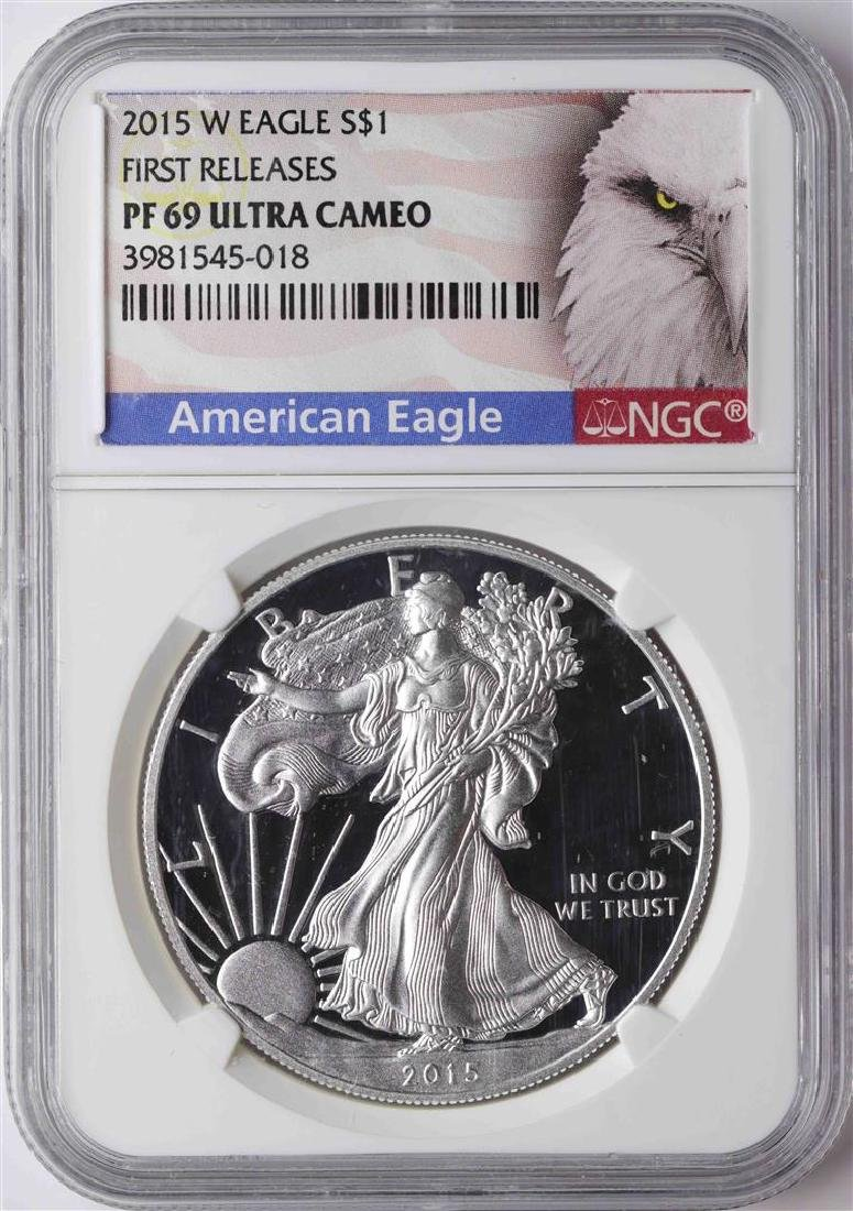 2015-W $1 American Silver Eagle Proof Coin NGC PF69