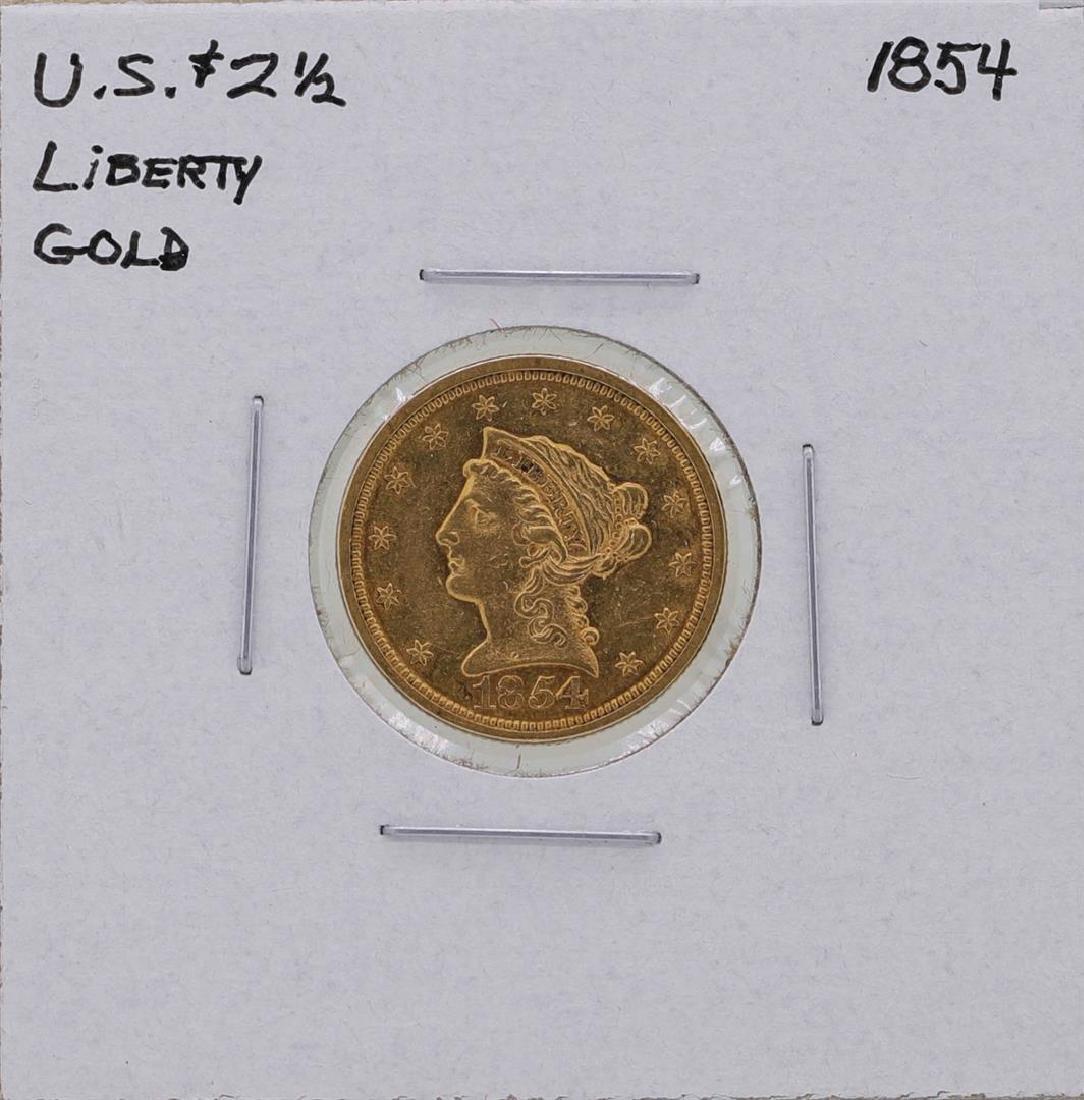 1854 $2 1/2 Liberty Head Quarter Eagle Gold Coin