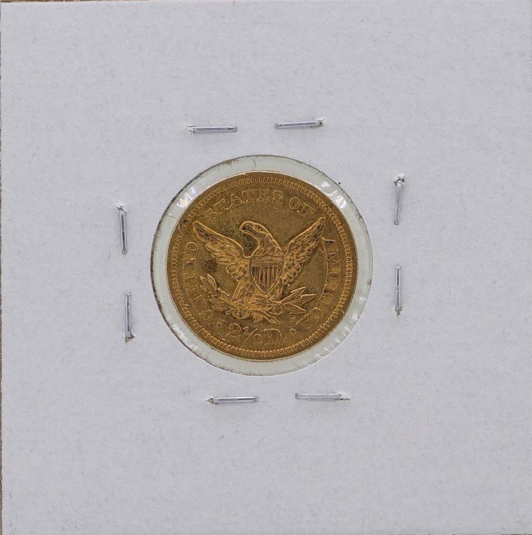 1854 $2 1/2 Liberty Head Quarter Eagle Gold Coin - 2