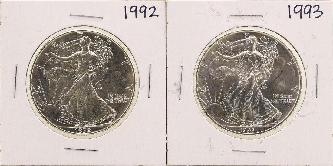 Lot of 1992-1993 $1 American Silver Eagle Coins